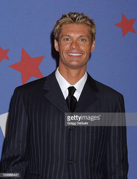 Ryan Seacrest during 'American Idol' Season 1 Finale Performance Show Press Room at Kodak Theatre in Hollywood California United States