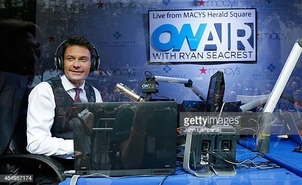 Ryan Seacrest during the 'OnAir With Ryan Seacrest' Live Broadcast From Macy's Herald Square at Macy's Herald Square on September 8 2014 in New York...