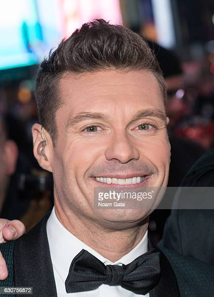 Ryan Seacrest hosts 'Dick Clark's New Year's Rockin' Eve' during New Year's Eve 2017 in Times Square on December 31 2016 in New York City