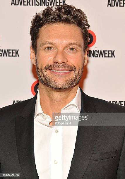 Ryan Seacrest poses at the Sound Strategy Why Millennials and Gen Z Are Listening More panel presented by iHeartMedia during Advertising Week 2015...