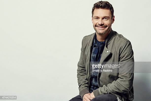 Ryan Seacrest poses for a portrait at the 1027 KIIS FM's Wango Tango portrait studio for People Magazine on May 9 2015 in Carson California