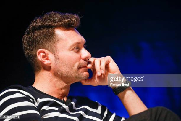 Ryan Seacrest speaks during the Cannes Lions Festival 2017 on June 20 2017 in Cannes France