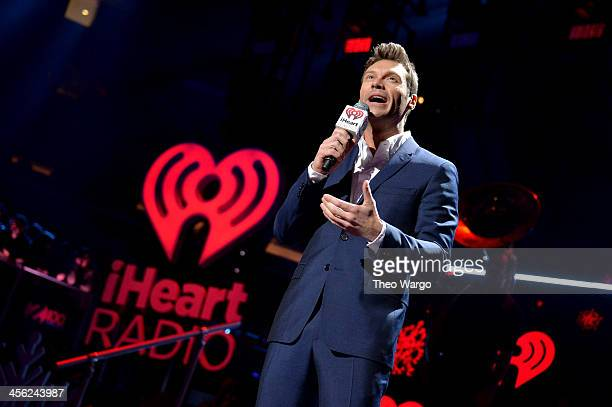 Ryan Seacrest speaks onstage during Z100's Jingle Ball 2013 presented by Aeropostale at Madison Square Garden on December 13 2013 in New York City