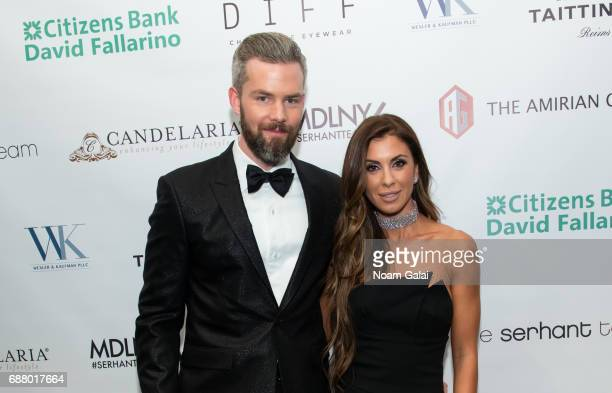 Ryan Serhant and Emilia Bechrakis attend Ryan Serhant Hosts 'Million Dollar Listing New York' Season 6 New York Premiere at Marquee on May 24 2017 in...