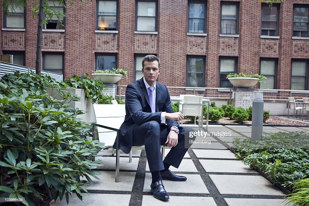 Ryan Serhant, vice president of Nest Seekers International, a brokerage for residential and vacation properties, sits for a photo at the 99 John Deco Lofts condo building in New York, U.S., on Friday, July 30, 2010. In March, the Federal Housing Administration (FHA) agreed to insure mortgages made at the 442-unit conversion project, allowing buyers to acquire an apartment with a down payment of as little as 3.5 percent. The development had 10 units go into contract with FHA backing, but the agency suspended its support for the building on August 3. Photographer: Ramin Talaie/Bloomberg via Getty Images