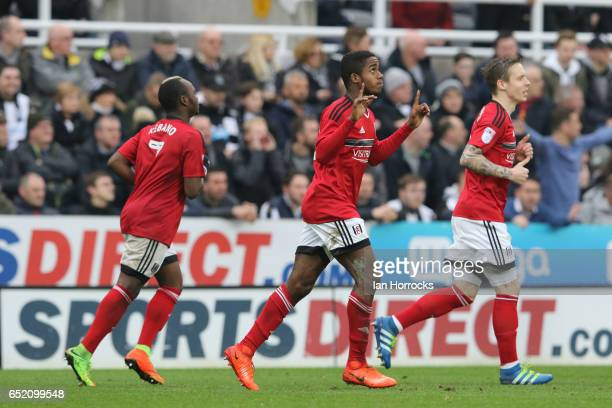 Ryan Sessegnon of Fulham celebrates after he scores the second goal during the Sky Bet Championship match between Newcastle United and Fulham at St...