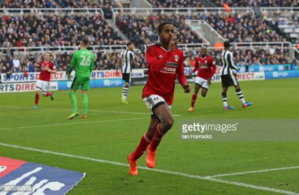 Ryan Sessegnon of Fulham celebrates after he scores the third goal during the Sky Bet Championship match between Newcastle United and Fulham at St...