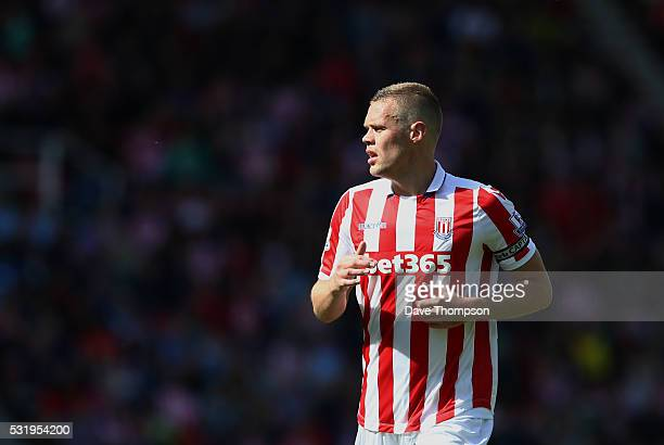 Ryan Shawcross of Stoke City during the Barclays Premier League match between Stoke City and West Ham United at the Britannia Stadium on May 15 2016...