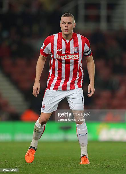 Ryan Shawcross of Stoke City during the Capital One Cup Fourth Round match between Stoke City and Chelsea at Britannia Stadium on October 27 2015 in...