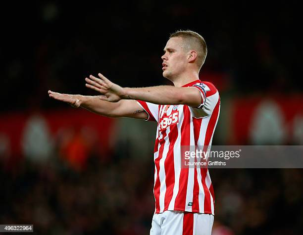 Ryan Shawcross of Stoke City looks on during the Barclays Premier League match between Stoke City and Chelsea at Britannia Stadium on November 7 2015...