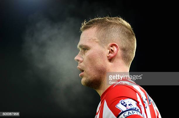 Ryan Shawcross of Stoke City looks on during the Barclays Premier League match between Stoke City and Arsenal at Britannia Stadium on January 17 2016...