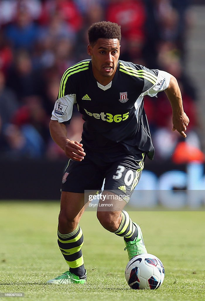 Ryan Shotton of Stoke City in action during the Barclays Premier League match between Southampton and Stoke City at St Mary's Stadium on May 19, 2013 in Southampton, England.