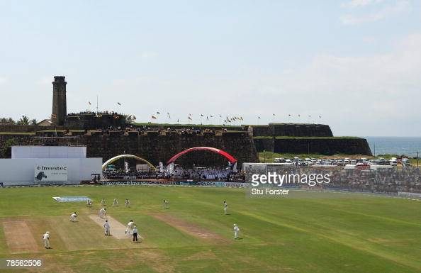 Ryan Sidebottom of England bowls the first over during day one of the third test match between Sri Lanka and England at the Galle International...