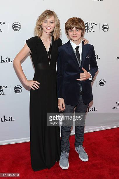 Ryan Simpkins and Ty Simpkins attend the world premiere of 'Meadowland' during 2015 Tribeca Film Festival at SVA Theater 1 on April 17 2015 in New...