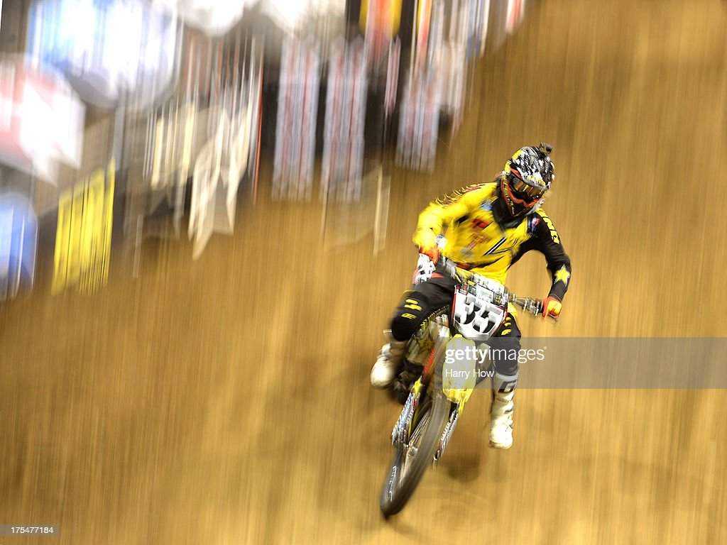 Ryan Sipes competes in the Men's Moto X Racing during X Games Los Angeles at Staples Center on August 3, 2013 in Los Angeles, California.