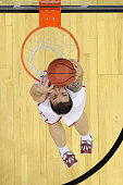 Ryan Spangler of the Oklahoma Sooners dunks the ball during the third round of the 2015 NCAA Men's Basketball Tournament on March 22 2015 at...
