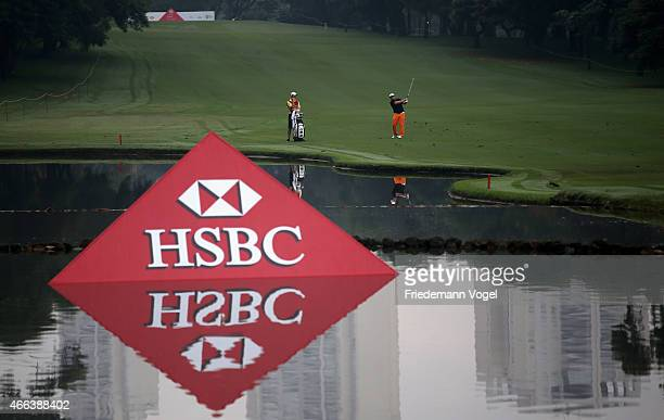 Ryan Spears of the USA hits a shot during the third round of the 2015 Brasil Champions Presented by HSBC at the Sao Paulo Golf Club on March 15 2015...