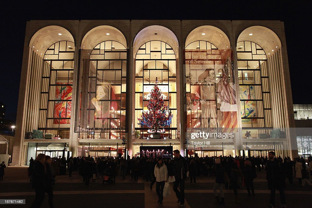 Ryan Speedo Green, Renée Tatum, and Andrew Stenson perform a selection of carols at The Metropolitan Opera Tree Lighting Ceremony at The Metropolitan Opera House on December 6, 2012 in New York City.