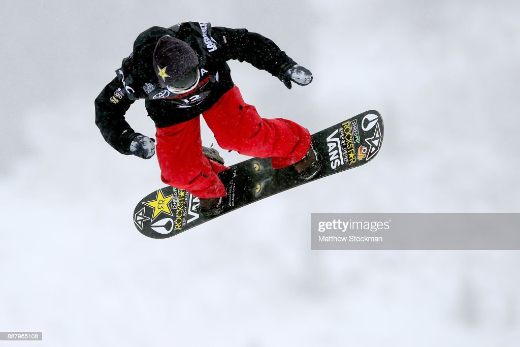 Ryan Stassel #12 of the United States trains for the FIS World Cup 2018 Men's Snowboard Big Air during the Toyota U.S. Grand Prix on December 7, 2017 in Copper Mountain, Colorado.