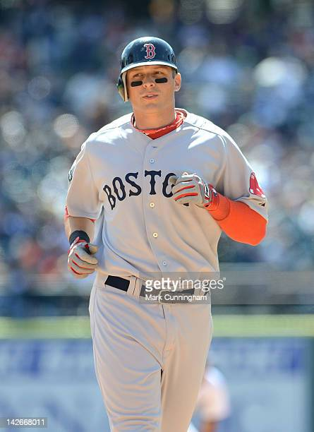 Ryan Sweeney of the Boston Red Sox looks on during the game against the Detroit Tigers at Comerica Park on April 8 2012 in Detroit Michigan The...