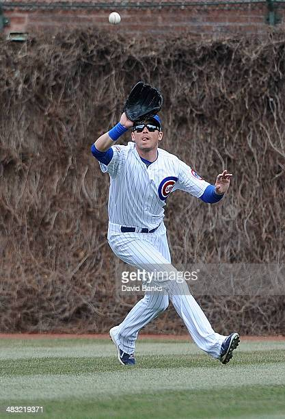 Ryan Sweeney of the Chicago Cubs plays against the Philadelphia Phillies on April 6 2014 at Wrigley Field in Chicago Illinois
