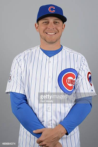 Ryan Sweeney of the Chicago Cubs poses during Photo Day on Monday March 2 2015 at Sloan Park in Mesa Arizona