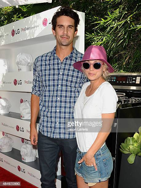 Ryan Sweeting and Kaley Cuoco attend the LG 'Fam To Table' series at The Washbow on August 22 2015 in Culver City California