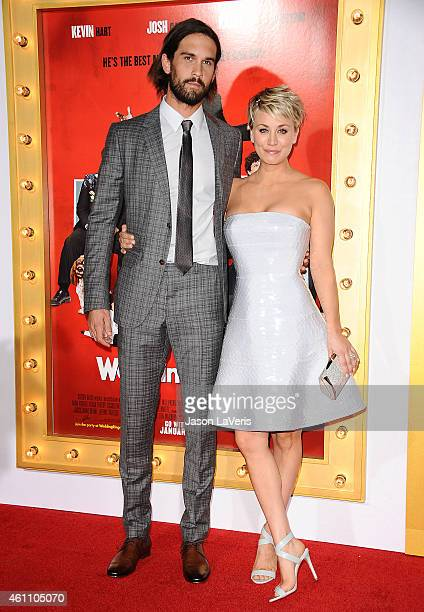 Ryan Sweeting and Kaley Cuoco attend the premiere of 'The Wedding Ringer' at TCL Chinese Theatre on January 6 2015 in Hollywood California