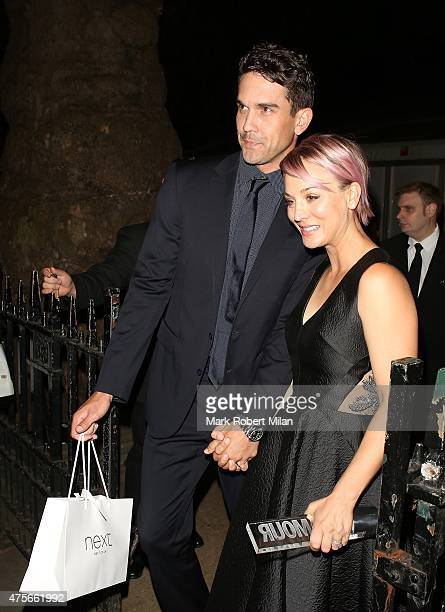 Ryan Sweeting and Kaley Cuoco attending the Glamour awards on June 2 2015 in London England