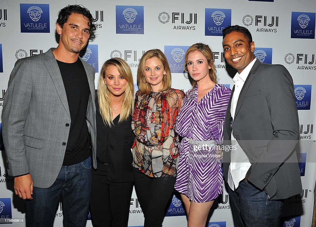 Ryan Sweeting, Kaley Cuoco, Ashley Jones and guests attend the Vatulele Island Resort launch event on July 31, 2013 in Los Angeles, California.