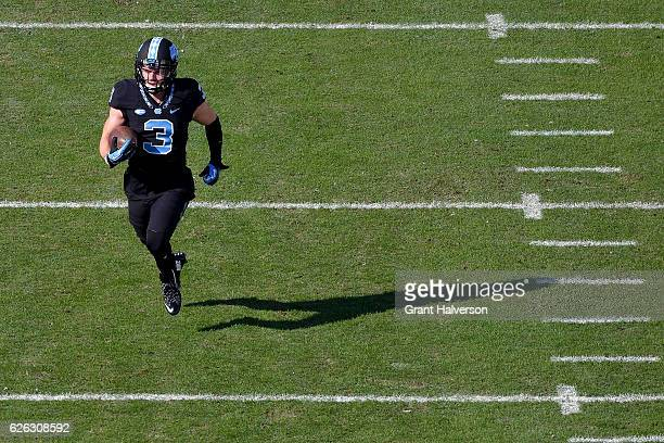 Ryan Switzer of the North Carolina Tar Heels against the North Carolina State Wolfpack during their game at Kenan Stadium on November 25 2016 in...