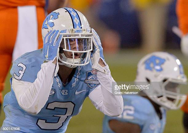 Ryan Switzer of the North Carolina Tar Heels reacts after his team was called offsides on an onside kick during the final minutes of the Atlantic...
