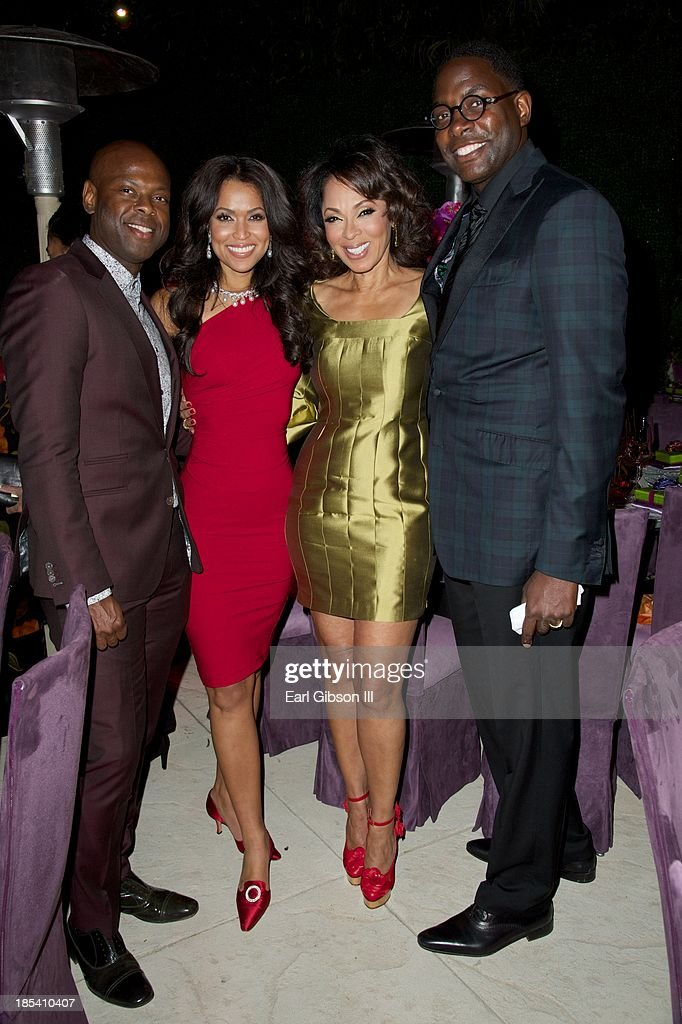 Ryan Tarpley, <a gi-track='captionPersonalityLinkClicked' href=/galleries/search?phrase=Tracey+Edmonds&family=editorial&specificpeople=2097600 ng-click='$event.stopPropagation()'>Tracey Edmonds</a>, <a gi-track='captionPersonalityLinkClicked' href=/galleries/search?phrase=Debra+Martin+Chase&family=editorial&specificpeople=876964 ng-click='$event.stopPropagation()'>Debra Martin Chase</a> and Andre Wells attend the House Of Flowers Gala on October 19, 2013 in Beverly Hills, California.