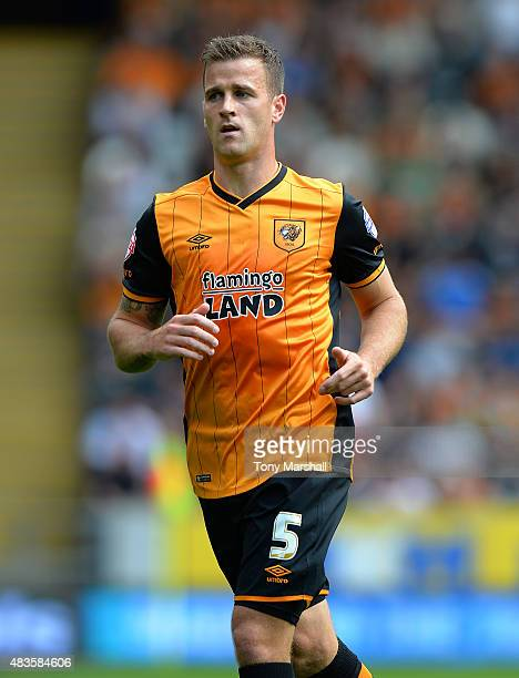 Ryan Taylor of Hull City during the Sky Bet Championship match between Hull City and Huddersfield Town at KC Stadium on August 8 2015 in Hull England
