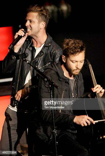 Ryan Tedder of One Republic performs during the band's Native Summer Tour at Shoreline Amphitheatre on June 6 2014 in Mountain View California