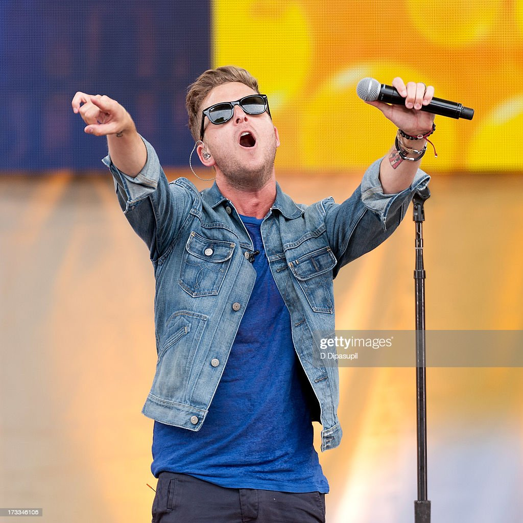 <a gi-track='captionPersonalityLinkClicked' href=/galleries/search?phrase=Ryan+Tedder&family=editorial&specificpeople=4651553 ng-click='$event.stopPropagation()'>Ryan Tedder</a> of One Republic performs on ABC's 'Good Morning America' at Rumsey Playfield on July 12, 2013 in New York City.