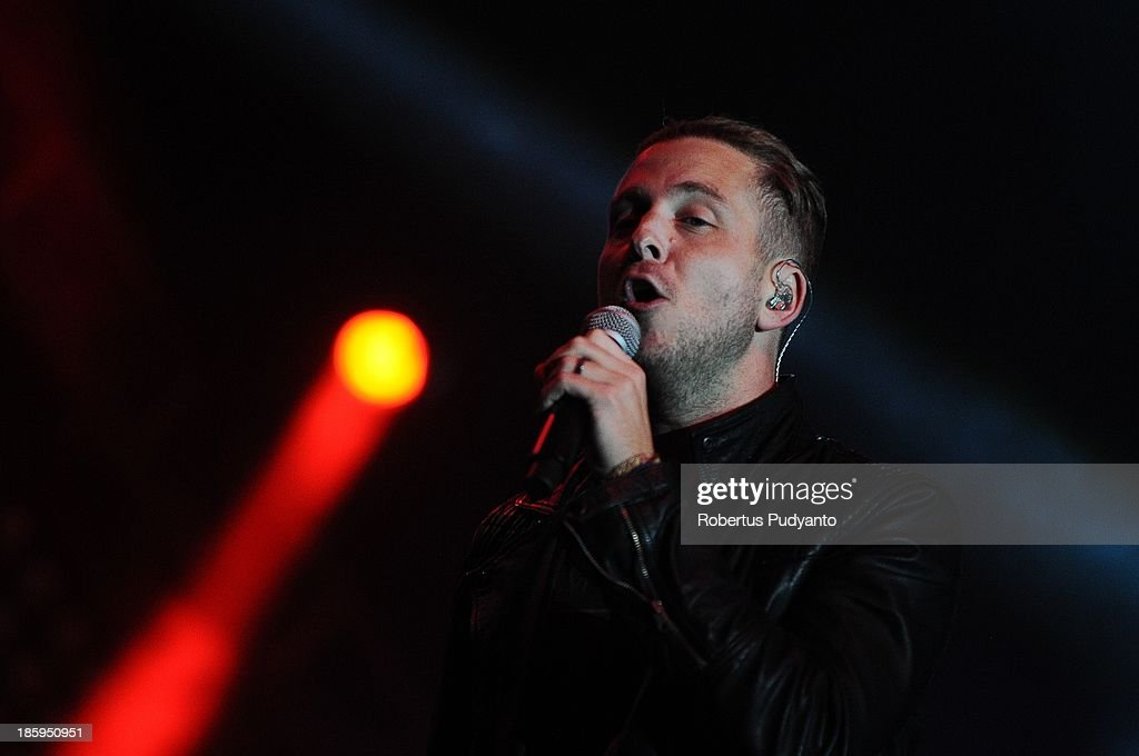 Ryan Tedder of OneRepublic performs at the annual Guinness Arthur's Day at JIEXPO Kemayoran on October 26, 2013 in Jakarta, Indonesia. Arthur's Day sees fans come together to experience live music and cultural events all over the world in celebration of Arthur Guinness, the founder of Guinness brewing.