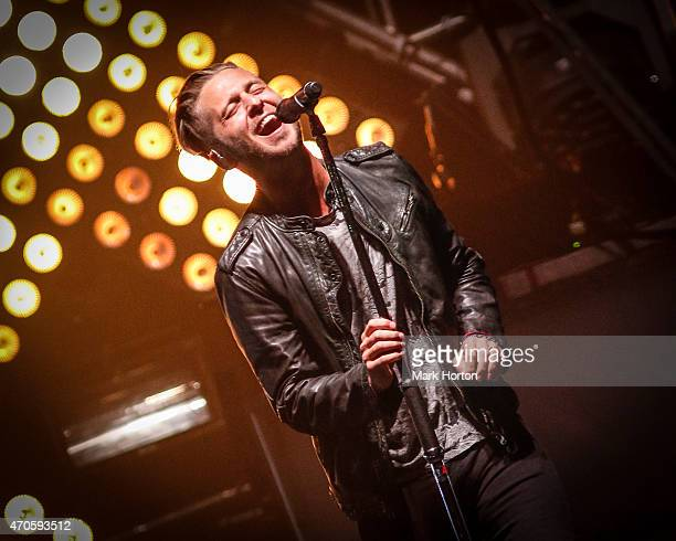 Ryan Tedder of OneRepublic performs at the Canadian Tire Centre on April 21 2015 in Ottawa Canada