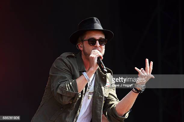 Ryan Tedder of OneRepublic performs during day 2 of BBC Radio 1's Big Weekend at Powderham Castle on May 29 2016 in Exeter England