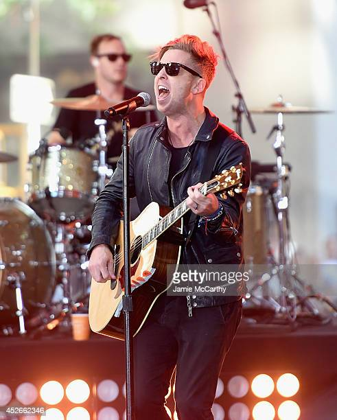 Ryan Tedder of OneRepublic performs on NBC's 'Today' at the NBC's TODAY Show on July 25 2014 in New York New York