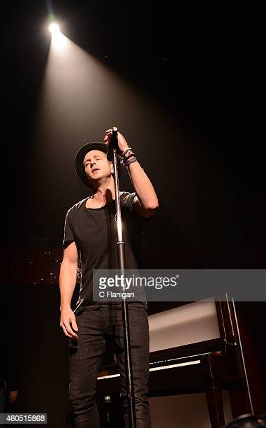 Ryan Tedder of OneRepublic performs onstage at the Q102's Jingle Ball 2014 at Wells Fargo Center on December 10 2014 in Philadelphia Pennsylvania