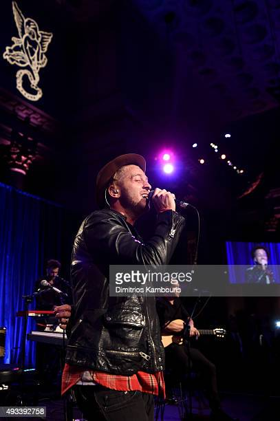 Ryan Tedder of OneRepublic performs onstage during Angel Ball 2015 hosted by Gabrielle's Angel Foundation at Cipriani Wall Street on October 19 2015...