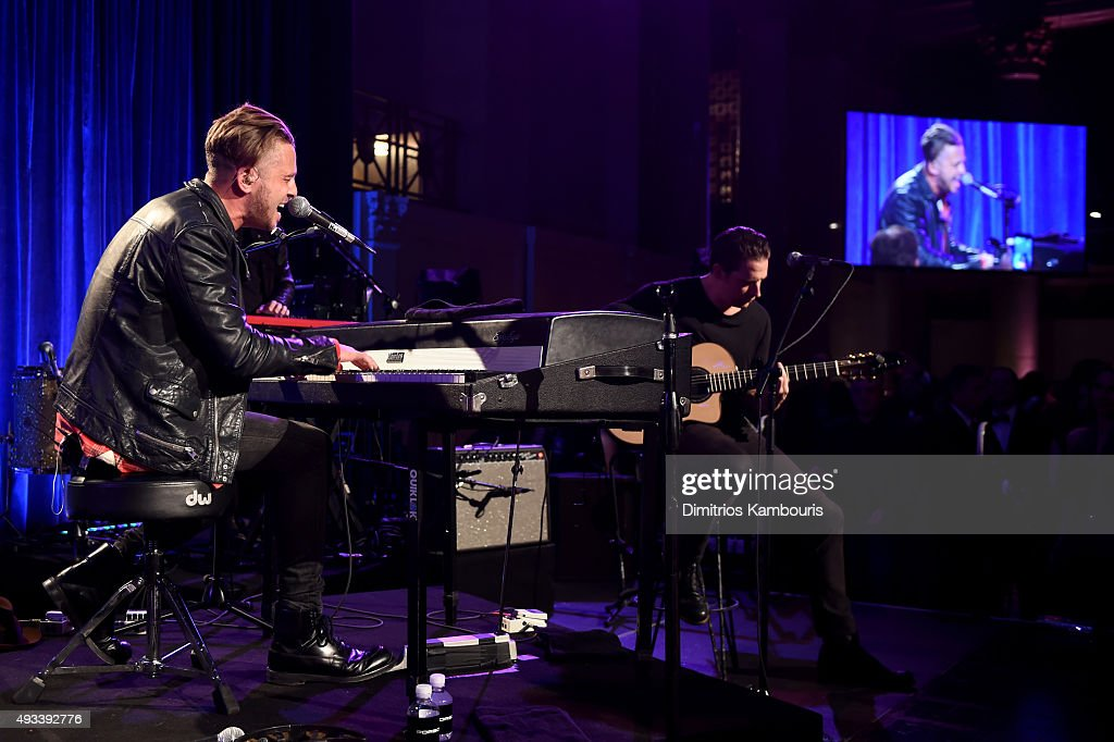Ryan Tedder of OneRepublic performs onstage during Angel Ball 2015 hosted by Gabrielle's Angel Foundation at Cipriani Wall Street on October 19, 2015 in New York City.