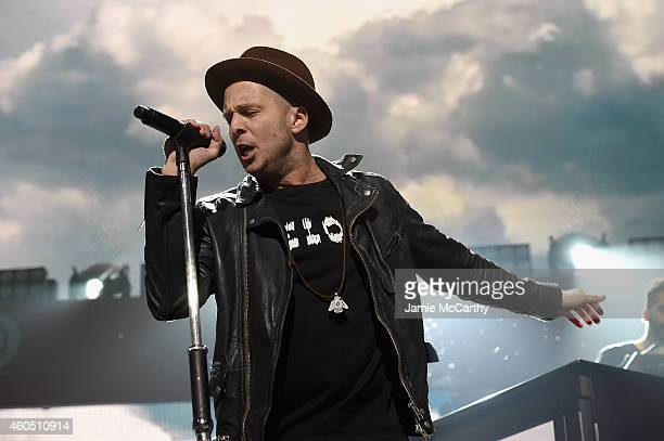 Ryan Tedder of OneRepublic performs onstage during HOT 995's Jingle Ball 2014 Presented by Mattress Warehouse at the Verizon Center on December 15...