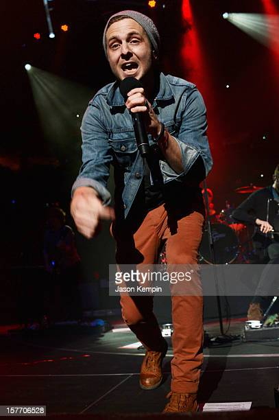 Ryan Tedder of OneRepublic performs onstage during Q102's Jingle Ball 2012 presented by XFINITY at Wells Fargo Center on December 5 2012 in...