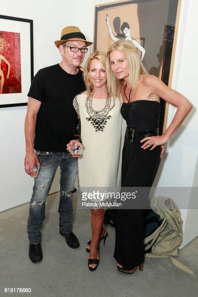 Ryan Thatcher Deborah Srb and Elizabeth Cohen attend INSPIRED Exhibition Curated By Beth Rudin DeWoody at Steven Kasher Gallery on July 14 2010 in...
