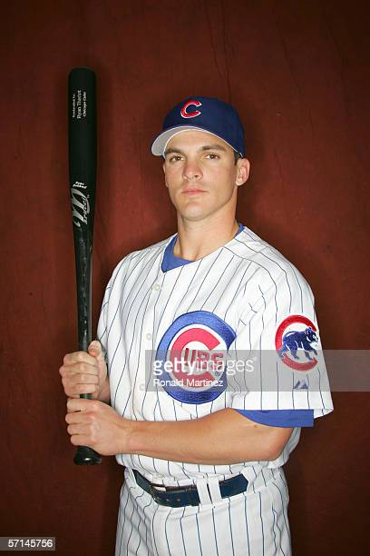Ryan Theriot of the Chicago Cubs poses during Spring Training Photo Day at Fitch Park on February 24 2006 in Mesa Arizona