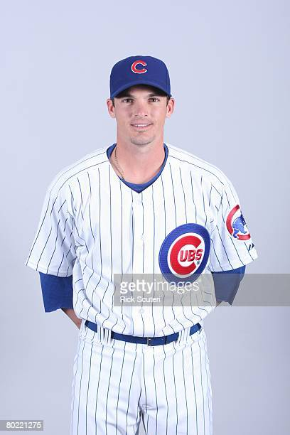 Ryan Theriot of the Chicago Cubs poses for a portrait during photo day at HoHoKam Park on February 25 2008 in Mesa Arizona