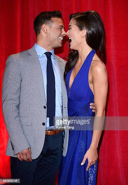 Ryan Thomas and Amy Jackson attend the British Soap Awards held at the Hackney Empire on May 24 2014 in London England