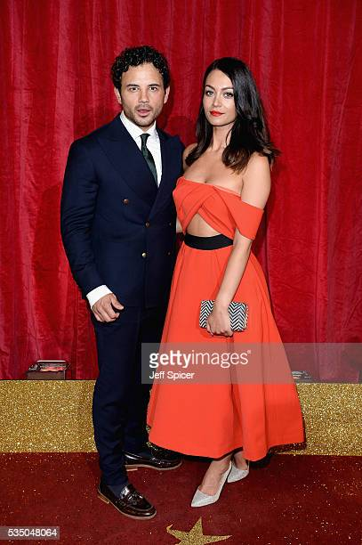 Ryan Thomas and guest attend the British Soap Awards 2016 at Hackney Empire on May 28 2016 in London England